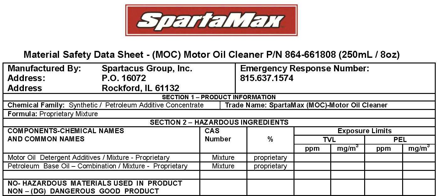 Spartamax Products Moc Motor Oil Cleaner